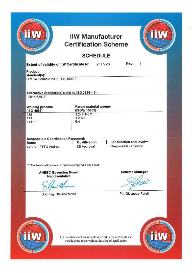2017 Cert. UNI EN ISO 3834 Pagina 4